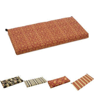 Blazing Needles 42-inch Print Outdoor Bench Cushion