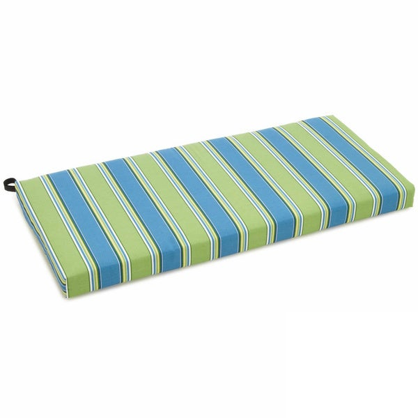 Blazing Needles Multicolored 42-inch Outdoor Spun Poly Bench Cushion