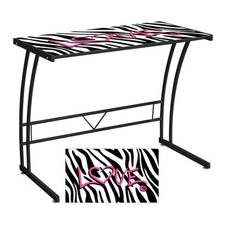 Zebra Love Printed Computer Desk