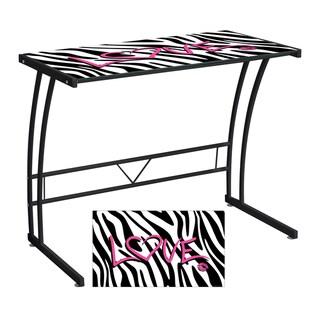 Zebra Love Printed Computer Desk