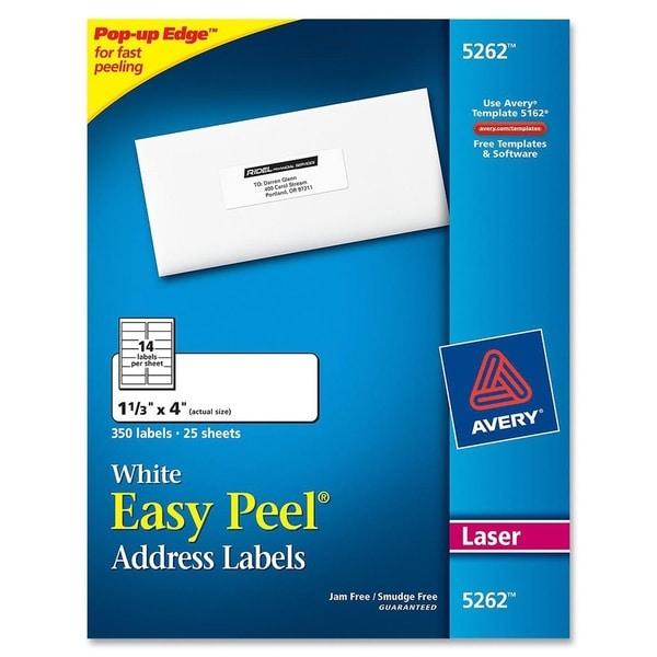 Avery White Easy Peel Address Labels