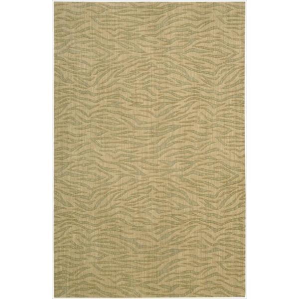 Cosmopolitan Beige/Green Tiger Print Rug - 5'3 x 8'3