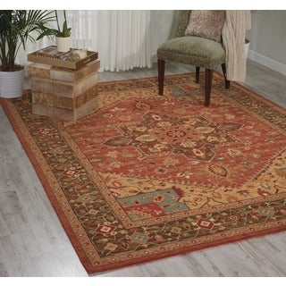 "Living Treasures Rust Rug (2'6"" x 4'3)"