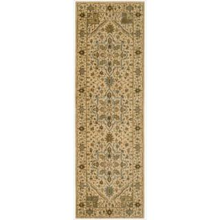 Living Treasures Beige Runner (2' 6 x 12)