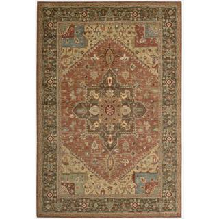 Living Treasures Rust Rug (3' 6 x 5' 6)