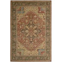 Living Treasures Rust Rug - 5'6 x 8'3