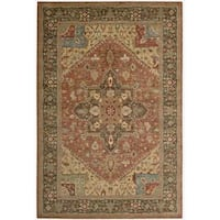 Living Treasures Rust Rug (5' 6 x 8' 3) - 5'6 x 8'3