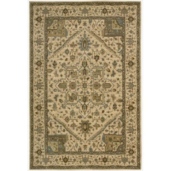 Living Treasures Beige Rug - 5'6 x 8'3