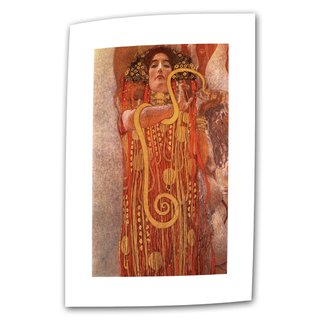 Gustav Klimt 'Hygieia' Flat Canvas - Multi (4 options available)