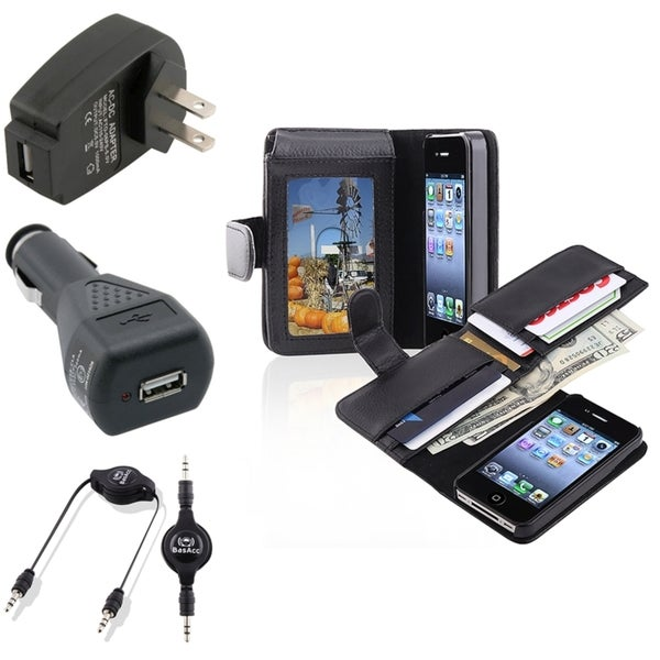 BasAcc Case/ Travel/ Car Charger/ Cable for Apple® iPhone 4/ 4S