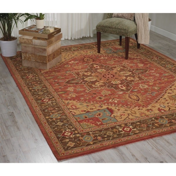 Living Treasures Rust Rug (7' 6 x 9' 6)
