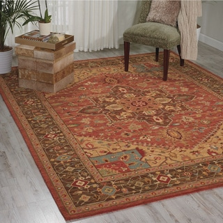 Living Treasures Rust Rug (8' 3 x 11' 3)