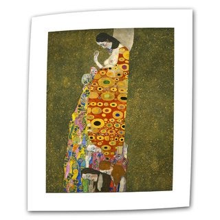 Gustav Klimt 'Hopeful' Flat Canvas