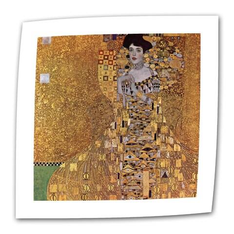 Gustav Klimt 'Portrait of Bloch Bauer' Flat Canvas - Multi