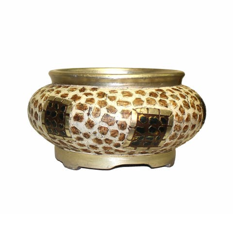 International Caravan 12-inch Diameter Mosaic Round Bowl
