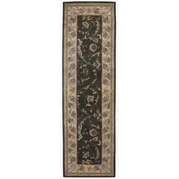 shop nourison hand tufted versailles palace olive rug 2 39 3 x 8 39 runner on sale free. Black Bedroom Furniture Sets. Home Design Ideas