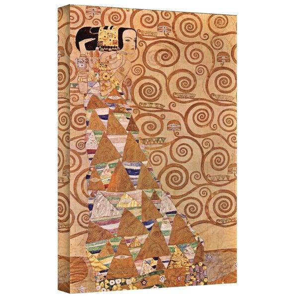 Gustav Klimt 'Anticipation' Gallery Wrapped Canvas