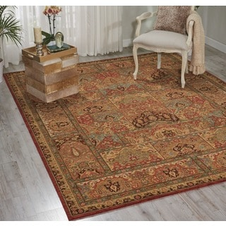 Living Treasures Khaki Wool Rug (2'6 x 4'3)