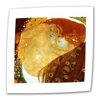Gustav Klimt 'Danae' Flat Canvas - Multi