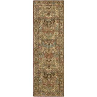 Living Treasures Multicolor Wool Runner Rug (2'6 x 12')