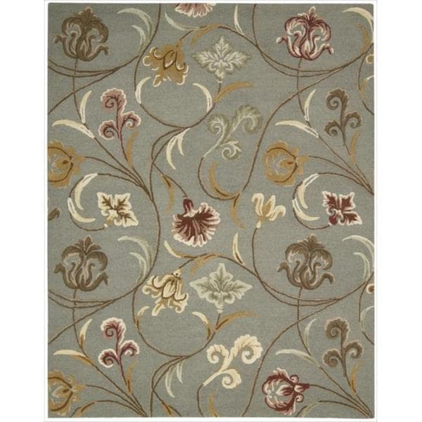 Hand-tufted In Bloom Smoke Wool Rug (8' x 11')
