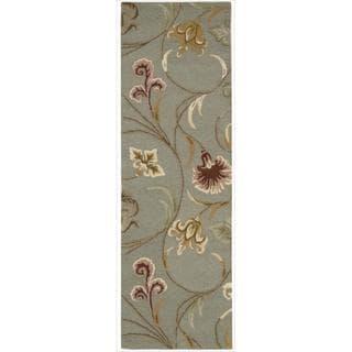 Hand-tufted In Bloom Smoke Wool Runner Rug (2'3 x 7'6)