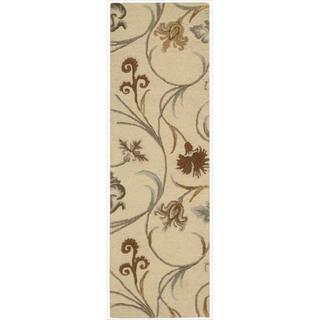 Hand-tufted In Bloom Beige Wool Runner Rug (2'3 x 7'6)