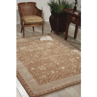 Hand-tufted Symphony Latte Wool Blend Rug (3'6 x 5'6)