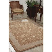 Hand-tufted Symphony Latte Wool Blend Rug - 3'6 x 5'6