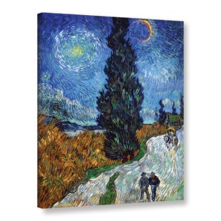 Vincent van Gogh 'Country Road in Provence by Night' Gallery Wrapped Canvas