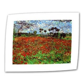 Vincent van Gogh 'Poppy Field' Flat Canvas