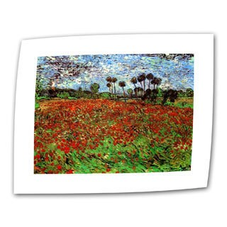 Vincent van Gogh 'Poppy Field' Flat Canvas