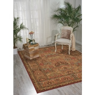 Living Treasures Multicolor Wool Rug (7'6 x 9'6)