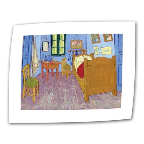 Vincent van Gogh 'The Bedroom' Flat Canvas - Multi