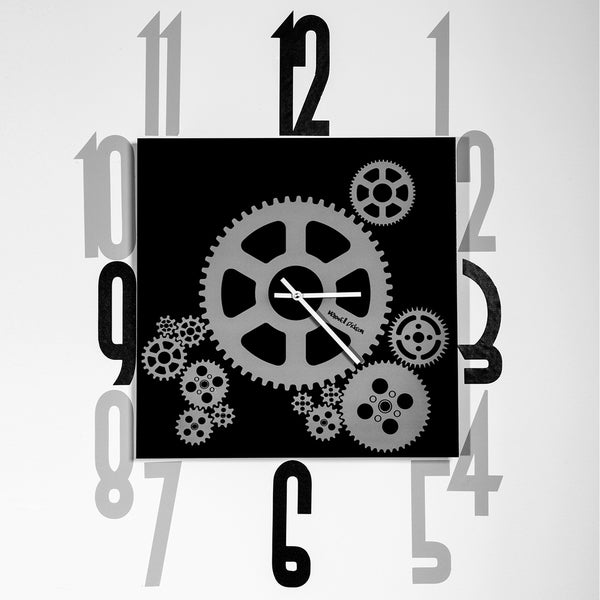 Maxwell Dickson 'Mechanical Gears' 15-inch Wall Clock