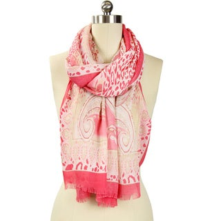 Handmade Saachi Women's Animal Paisley Scarf (China)