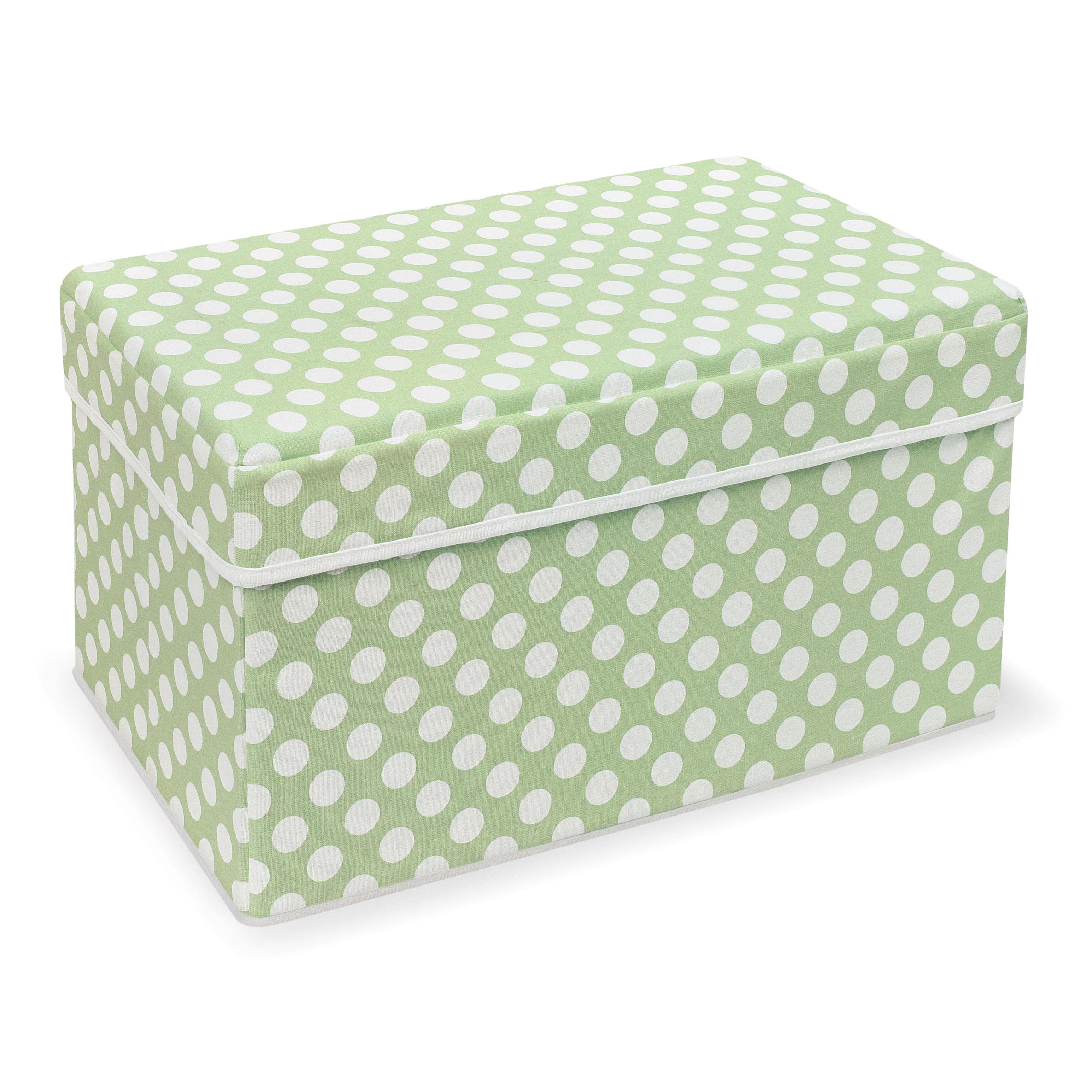 Badger Basket Double Folding Sage Polka Dot Storage Seat ...