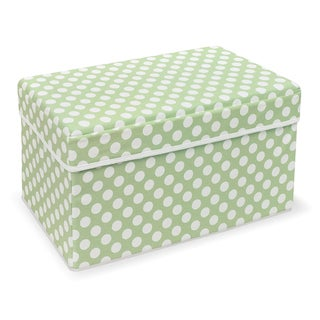 Badger Basket Double Folding Sage Polka Dot Storage Seat