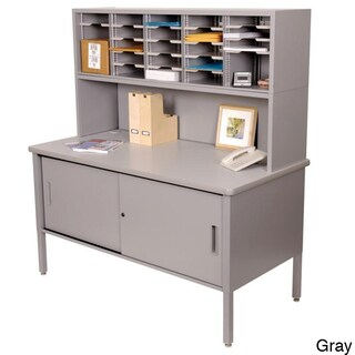 Marvel Adjustable Mail Sorting Station, Riser and Cabinet with 25 Cubbies (2 options available)