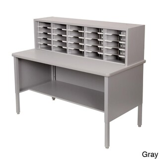Marvel Adjustable Mail Sorting Station with Lower Shelf (25 Cubbies) (2 options available)