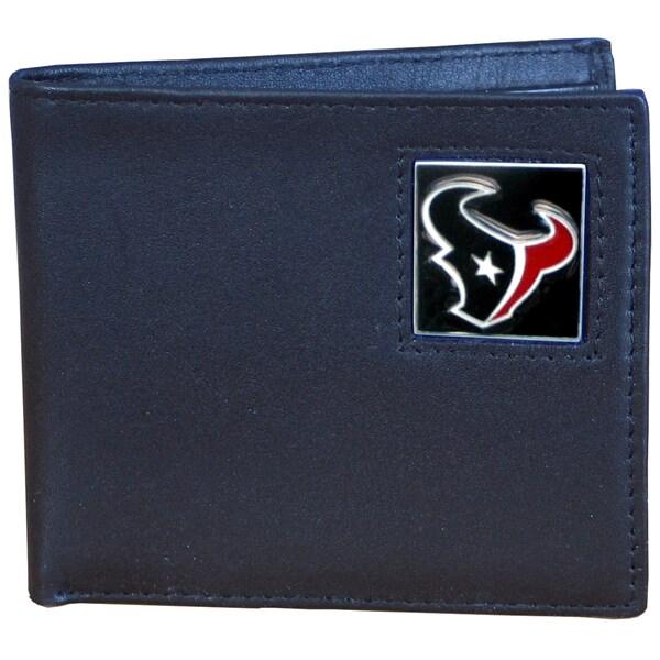 NFL Team Logo Genuine Leather Bi-fold Wallet