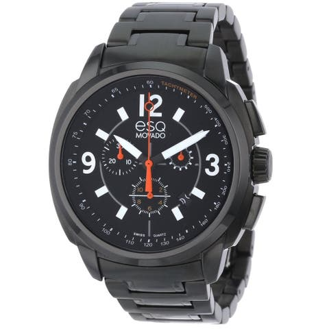 ESQ By Movado Men's 07301418 'Excel' Chronograph Black Stainless Steel Watch