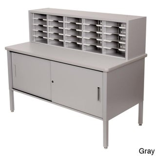 Marvel Adjustable Mail Sorting Station with Lockable Cabinet (25 Cubbies) (2 options available)