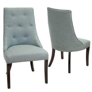 Hardy Blue Fabric Tufted Scoop Back Chairs (Set of 2) by Christopher Knight Home