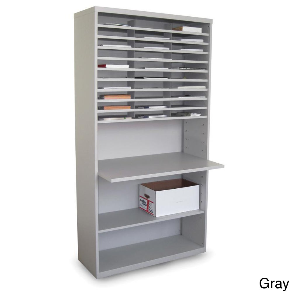 Marvel Mail Sorting Station with Adjustable Worksurface a...