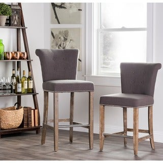 Rafa Upholstered 24-inch Counter Stool by Kosas Home