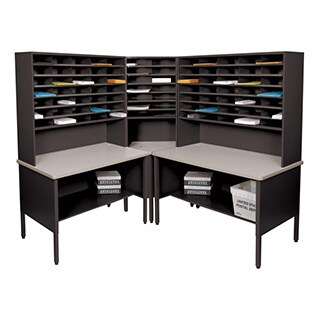 Marvel Corner Mail Organizer with Utility Tables (84 Cubbies)
