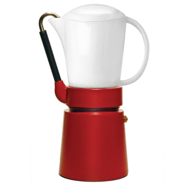 Aerolatte 'Cafe Porcellana' Red Stovetop Espresso Maker