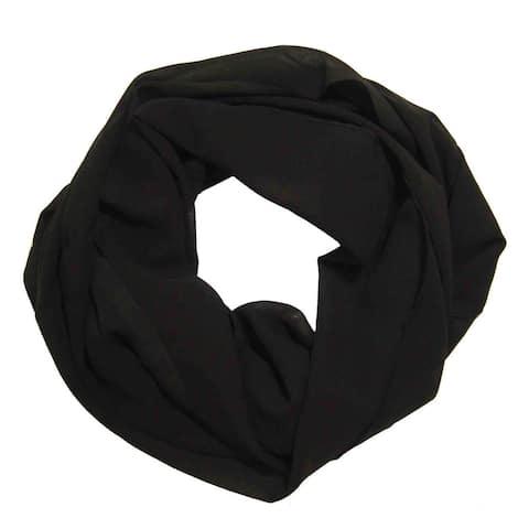 Peach Couture Women's Black Chiffon Infinity Loop Scarf