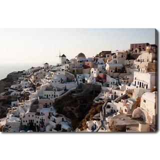 'Santorini Sunset' Gallery-wrapped Canvas Art